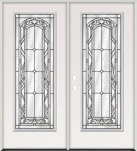 Full Lite Steel Prehung Double Door Unit #292