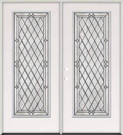 Diamond Full Lite Steel Prehung Double Door Unit #294
