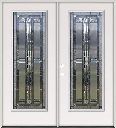 Full Lite Steel Prehung Double Door Unit #297