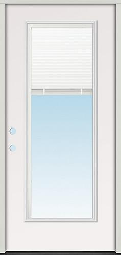 Miniblind Full Lite Steel Prehung Door Unit