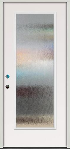 Privacy Glass Full Lite Steel Prehung Door Unit