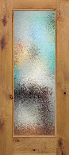 Privacy Glass Full Lite Knotty Alder Wood Door Slab
