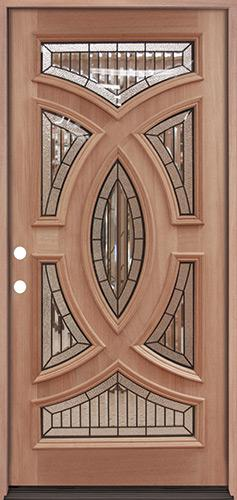 Baseball Mahogany Prehung Wood Door Unit #A8025-22