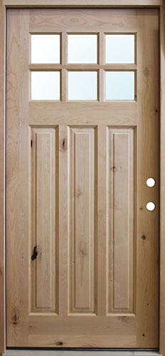 Craftsman Knotty Alder Prehung Wood Door Unit #UK43