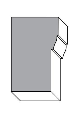 Brickmould - Unfinished Knotty Alder #WM180