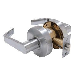 Commercial Door Passage Lever Brushed Chrome