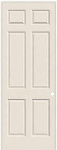 "8'0"" 6-Panel Textured Molded Interior Prehung Door Unit"