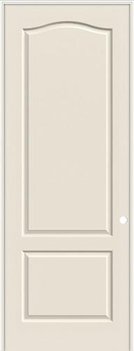 "8'0"" 2-Panel Eyebrow Smooth Molded Interior Prehung Door Unit"
