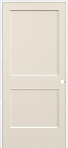 "6'8"" 2-Panel Flat Smooth Molded Interior Prehung Door Unit"