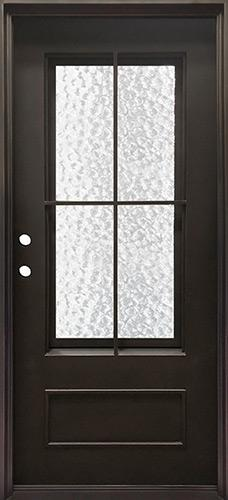 "37"" x 81"" Tiffany Iron Prehung Door Unit"