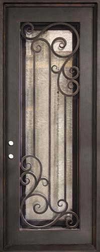 "37"" x 97"" Athenian Iron Prehung Door Unit"