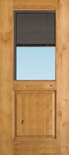 Slate Half Mini-blind Knotty Alder Wood Door Slab