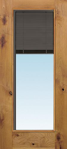 Slate Full Mini-blind Knotty Alder Wood Door Slab