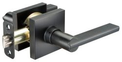 Seattle Square Interior Door Passage Lever Flat Black
