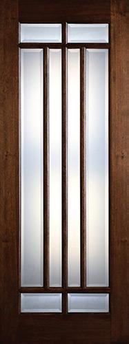 """Preston 36"""" x 8'0"""" 8-Lite Marginal Low-E Mahogany Wood Door Slab"""