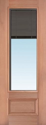 "Slate 8'0"" Tall 3/4 Mini-blind Mahogany Wood Door Slab"