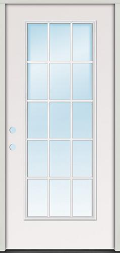 15-Lite Fiberglass Prehung Door Unit