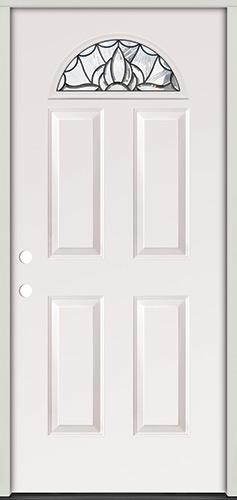 Fan Lite Steel Prehung Door Unit #33
