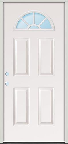 Fan Lite Fiberglass Prehung Door Unit