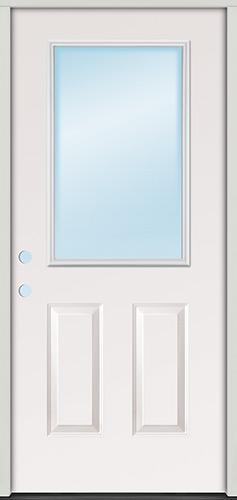 Half Lite Fiberglass Prehung Door Unit