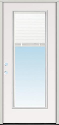 Miniblind Full Lite Fiberglass Prehung Door Unit