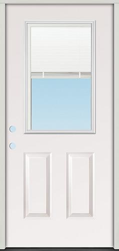 Miniblind Half Lite Fiberglass Prehung Door Unit