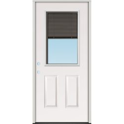 Slate Miniblind Half Lite Steel Prehung Door Unit