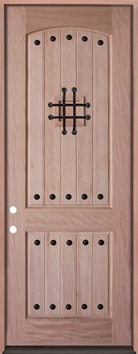 "8'0"" Tall Rustic Mahogany Prehung Wood Door Unit #UM20"