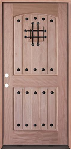 Rustic Mahogany Prehung Wood Door Unit #UM20